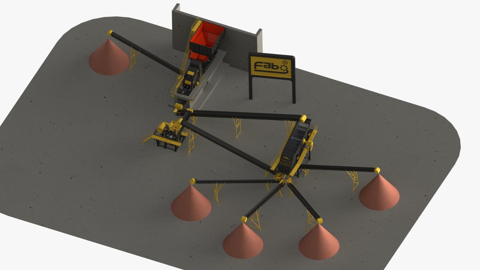 350-450 TPH Impact Crushing And Screening Plant