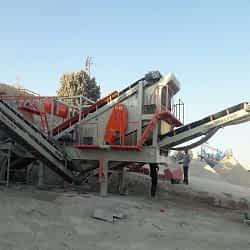 cobra track 1100 mobile crushing plant