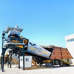 Turbomix-100 Mobile Concrete Batching Plant