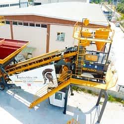 Turbomix-150 Mobile Concrete Batching Plant