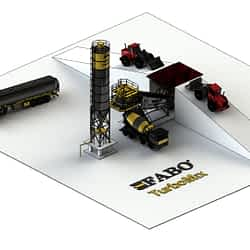 Turbomix-60 Pan Mixer Mobile Concrete Batching Plant