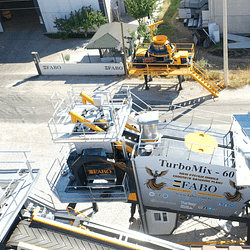 Turbomix-60 Twinshaft Mobile Concrete Batching Plant