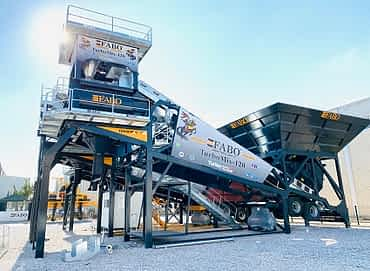 Turbomix-120 mobile concrete batching plant