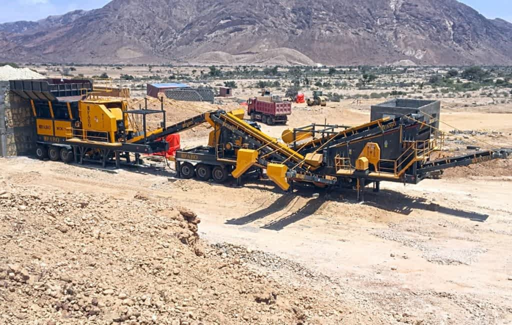 Mck-110 Mobile Hard Stone Crushing Plant Al Harbi Trading Hargeisa Somalia