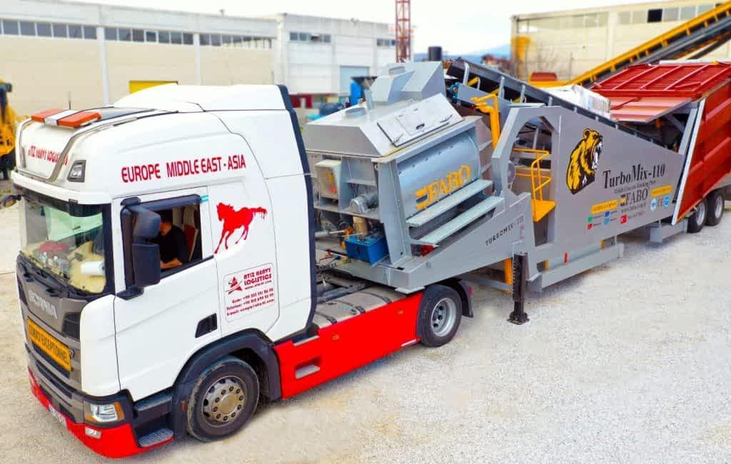 Turbomix-110 Mobile Concrete Batching Plant ARADIKO Skopje – Macedonia