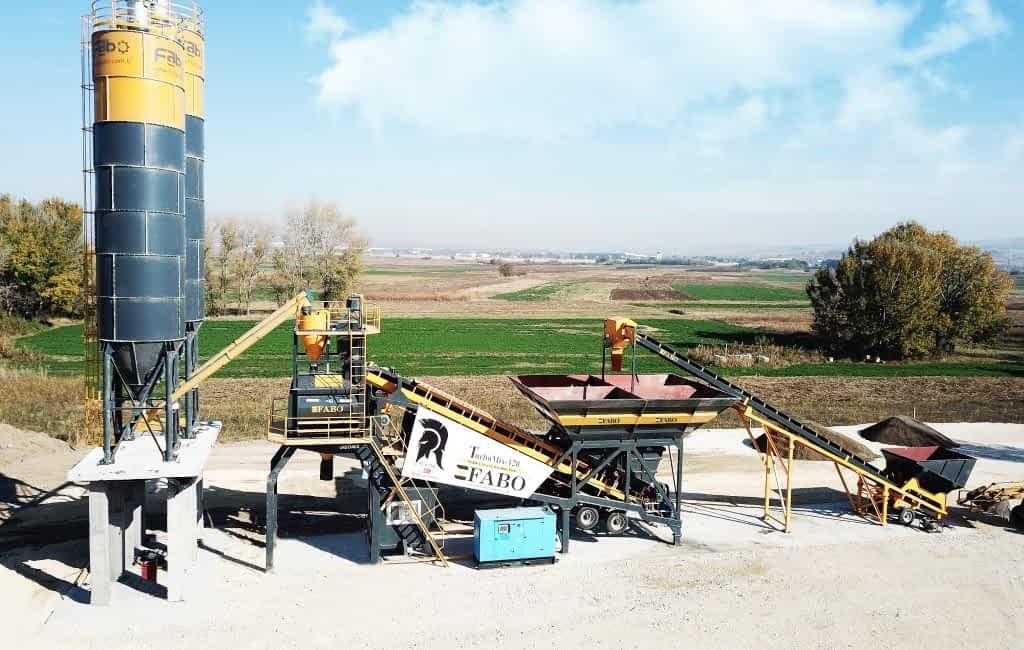 Turbomix-120 Mobile Concrete Plant | Alem Kompani | Skopje / Macedonia