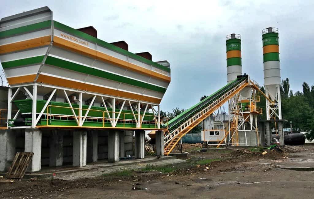 concrete batching plant cement silo
